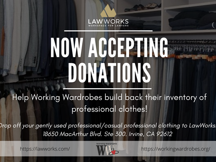 LawWorks Professional Clothing Drive to Rebuild Working Wardrobes