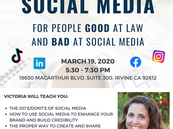 POSTPONED - Social Media for People Good at Law and Bad at Social Media