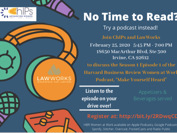 ChIPs and LawWorks - Discuss Episode 1 - Harvard Business Review Women at Work Podcast,